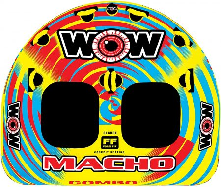 WOW World of Watersports, Macho Towable Tube, Multiple Riding Positions
